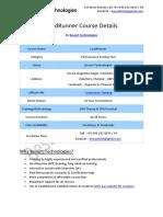 LoadRunner Besant Technologies Course Syllabus