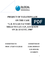 Project of Taxation Law