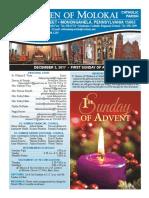 December 3, 2017 - Bulletin