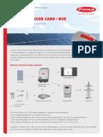 SE DS Fronius Sensor Card Box De