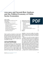 Chapter 3 First Best and Second Best Analyses and the Political Economy of Public Sector Economics 2015 Public Finance Third Edition