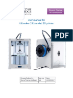 User Manual for 3D Printer- Ultimaker v1