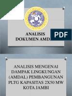 Kelompok 1 Analisis Dokumen Amdal