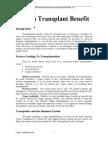 Organ Transplant Benefit