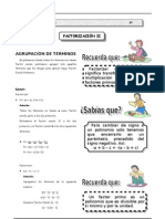 II T - 3º sec - Guía 2 - Factorización II