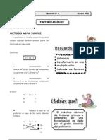 II T3º Sec. - Guía 4 - Factorización IV