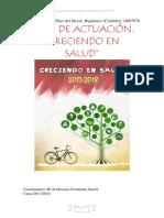 PLAN DE ACTUACIÓN CRECIENDO EN SALUD 2017-2018