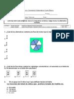 Evaluación Coef 2 Matemática Cuarto