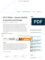 GS 2 Notes for IAS - Issues Relating to Poverty and Hunger