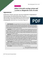 Evaluation of Modifi Ed Alvarado Scoring System And