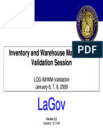 LOG IM WM Validation Presentation