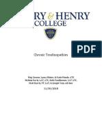 clinical question chronic tendinopathies