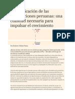 Diversificación de Las Exportaciones Peruanas