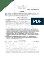 cameron teaching resume