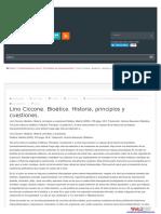Ciccone, L. Esquivias, A. (2005). Bioetica. Madrid Palabras.