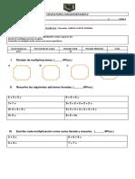Prueba de Multiplicaciones 2 Basico