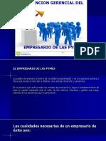 Función Gerencial Del Empresario de Las Pymes