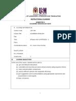 Lsp 300 Course Ip Sem II 20142015