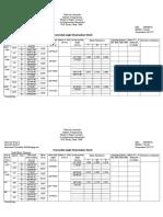 Horizontal Angle Observation Sheet