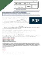 Lista EM Cálculo Estequiométrico