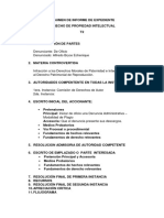 Estructura de Resumen de Informe