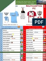 Premier League 171129 omgång 14 Manchester City - Southampton 2-1