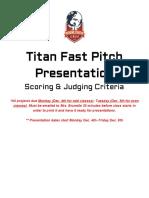 titan fast pitch - presentation logistics