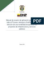 Nota Técnica 7 Análisis Multicriterio-DNP - Manual de Usuario VF 2016