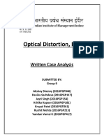Group 9_Written Case Analysis_Optical Distortion Inc