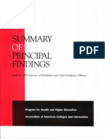 summar of principal findings from 1996 surveys of presidents   chief academic officers aacu