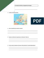 Ficha de Estudo de História e Geografia de Portugal