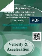 velocity acceleration