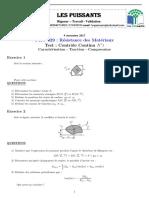 Test de Connaissances PHYS329