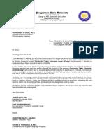 Letter for Professor Talks