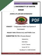 DEMOCRACY AND pUBLIC LAW