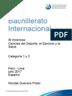CIENCIAS DEL SALUD Y DEL DEPORTE IB