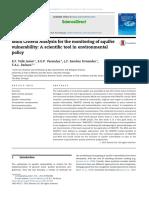 Análisis Multicriterio Para El Monitoreo de La Vulnerabilidad Del Acuífero Una Herramienta Científica en La Política Ambiental