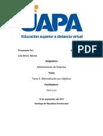 ADMINISTRACION II - Establece Las Relaciones Entre Planes y Objetivos