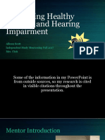 ism comparing healthy hearing and hearing impairment