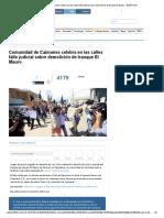 Comunidad de Caimanes Celebra en Las Calles Fallo Judicial Sobre Demolición de Tranque El Mauro - BioBioChile