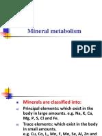 Mineral Metabolism