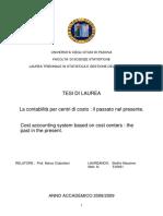 Contabilita' Per Centri Di Costo - Stellini_Massimo_Thesis