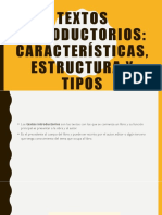 textos introductorios