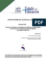 Oviedo Rendimiento Matematica