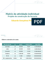 Atividade Individual - Gerenciamento de Custos Projetos FGV