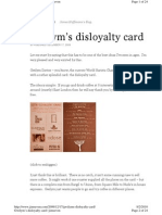 The Disloyalty Card Coffee