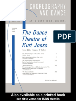 Suzanne K. Walther-The Dance Theatre_ Kurt Jooss (Choreography and Dance) (1997)