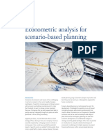Econometric Analysis for Scenario Based Planning