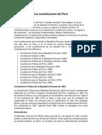 Las Constituciones Del Perú