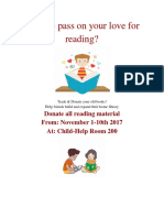 tel410 book donating flyer